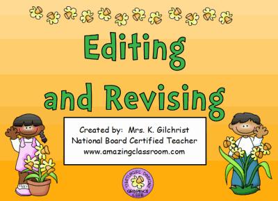 essay revising and editing