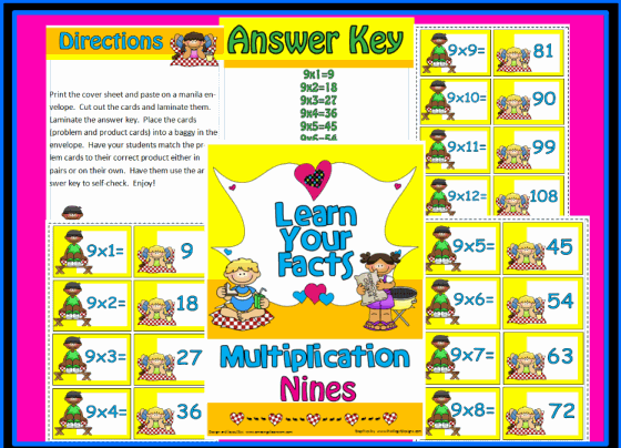 Multiplication Nines Math Center