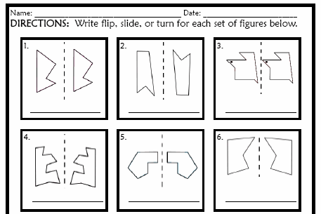 Identifying Flips,Slides,and Turns