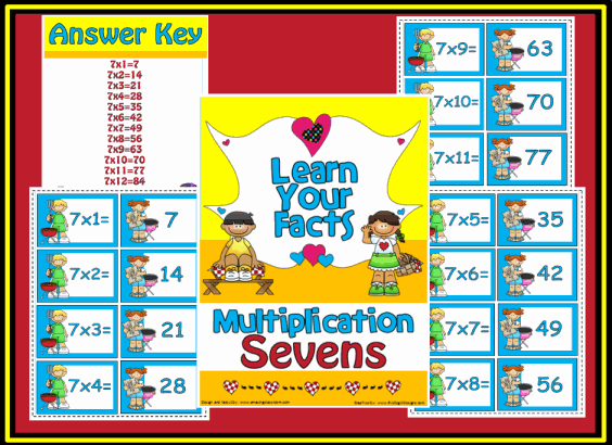 Multiplication Sevens Math Center