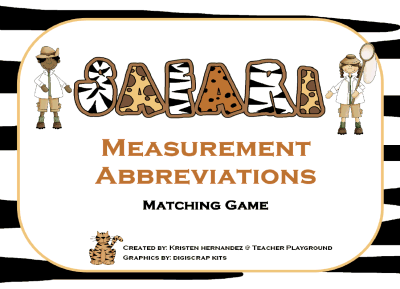 Measurement Abbreviations Matching
