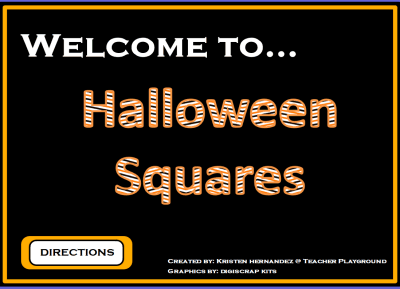 Halloween Squares Game Template