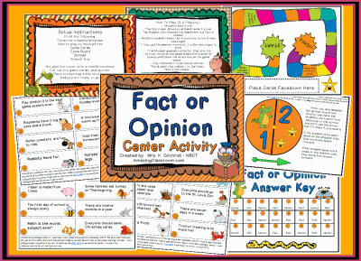 Fact or Opinion Center Station Game