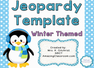 Jeopardy Template Winter Themed