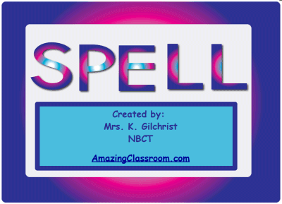 Spelling Pages with Letter Sets