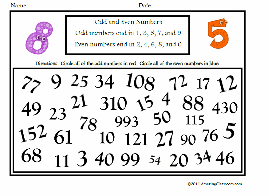odd and even number Colouring Pages (page 3)