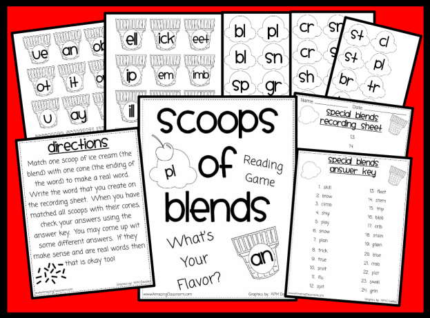 Scoops of Blends Phonics Game