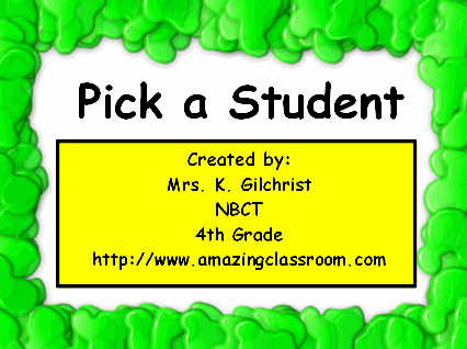 Whom Do I Choose? - Nose Student Picker
