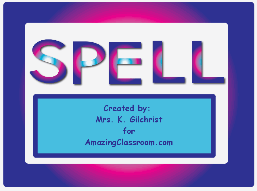 Spelling With Gradient Letters
